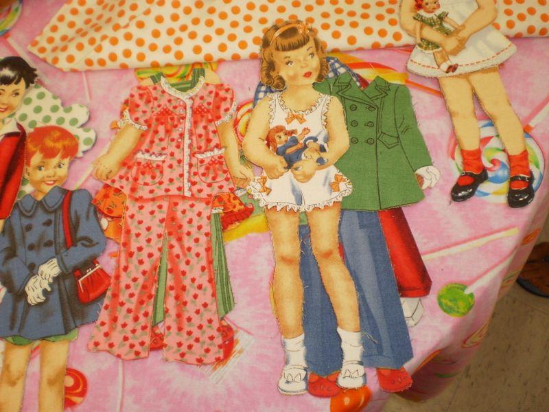 Fabric Paper-dolls 060