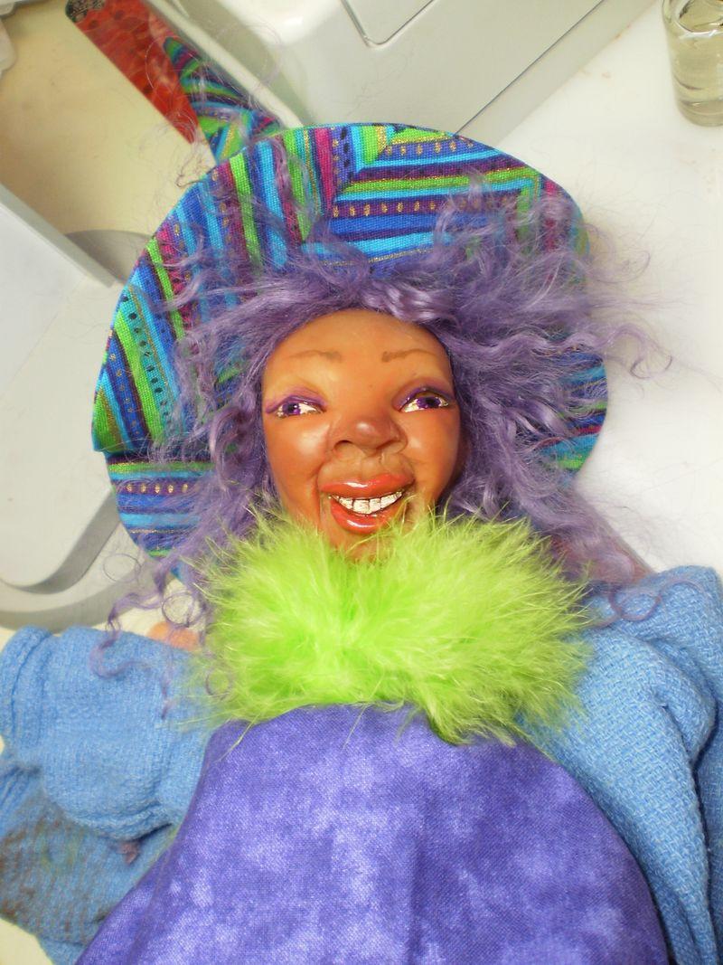 Wild Woman Witch Stick Puppet 2009 005