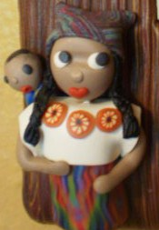 Worry doll lightswitch plate -Close