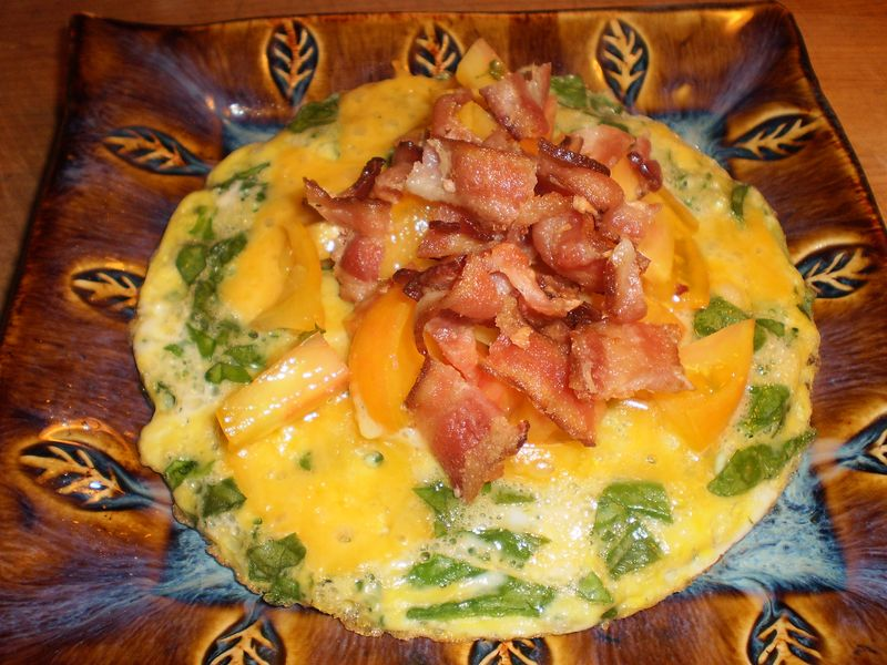 Open Faced Sinach Omelete