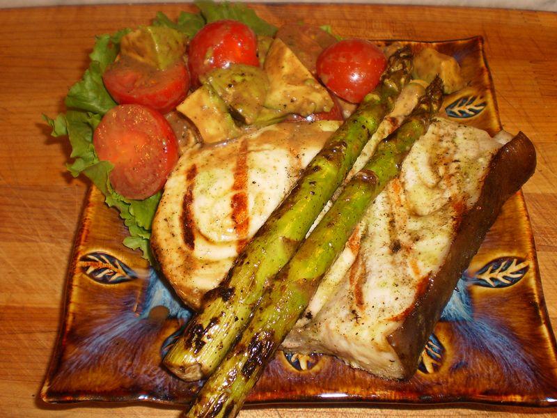 Swordfish mint balsamic salad