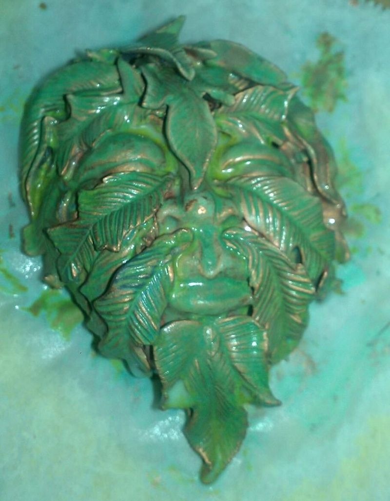 Greenman Face Patina Developing II